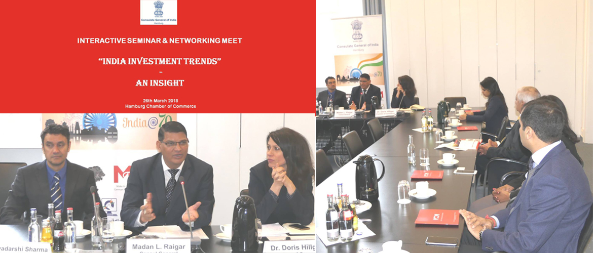 "Event ""India Investment Trends – An Insight"" at Chamber of Comemrce, Hamburg (March 26, 2018)"