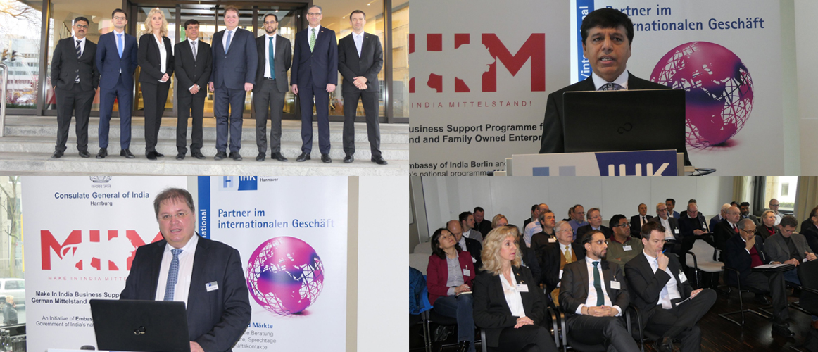 "Make in India Mittelstand"" Workshop at IHK Hannover (February 20, 2020)"