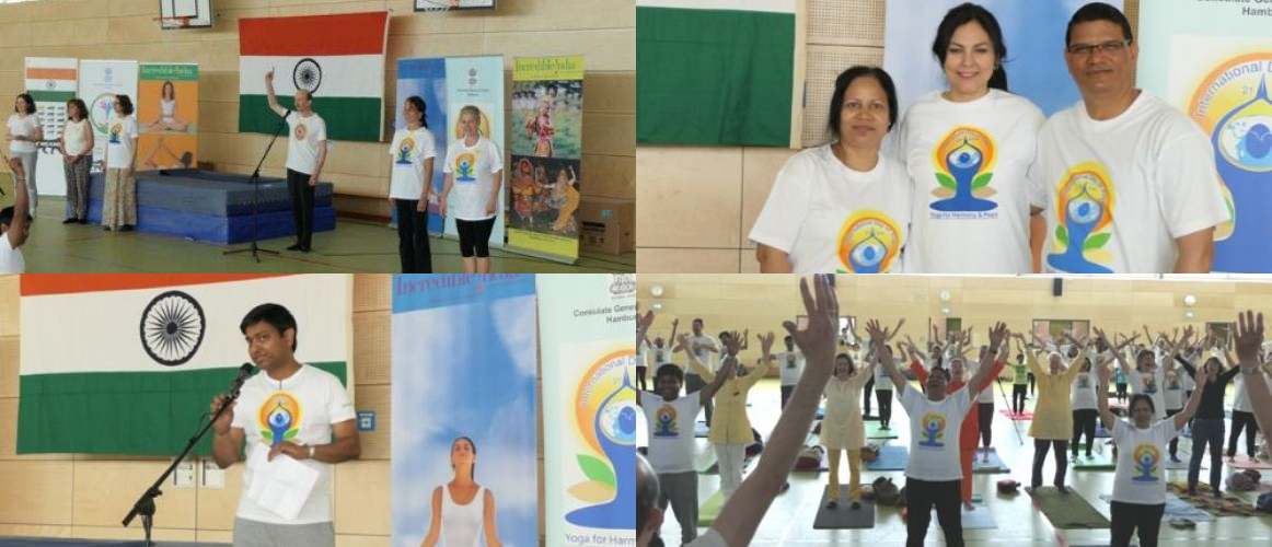 Celebration of 5th International Day of Yoga in Hamburg (June 22, 2019)