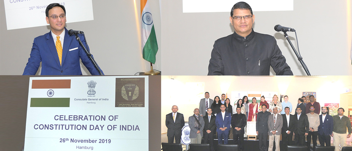 """Celebration of Constitution Day of India"" at the Consulate General of India, Hamburg (November 26, 2019)"