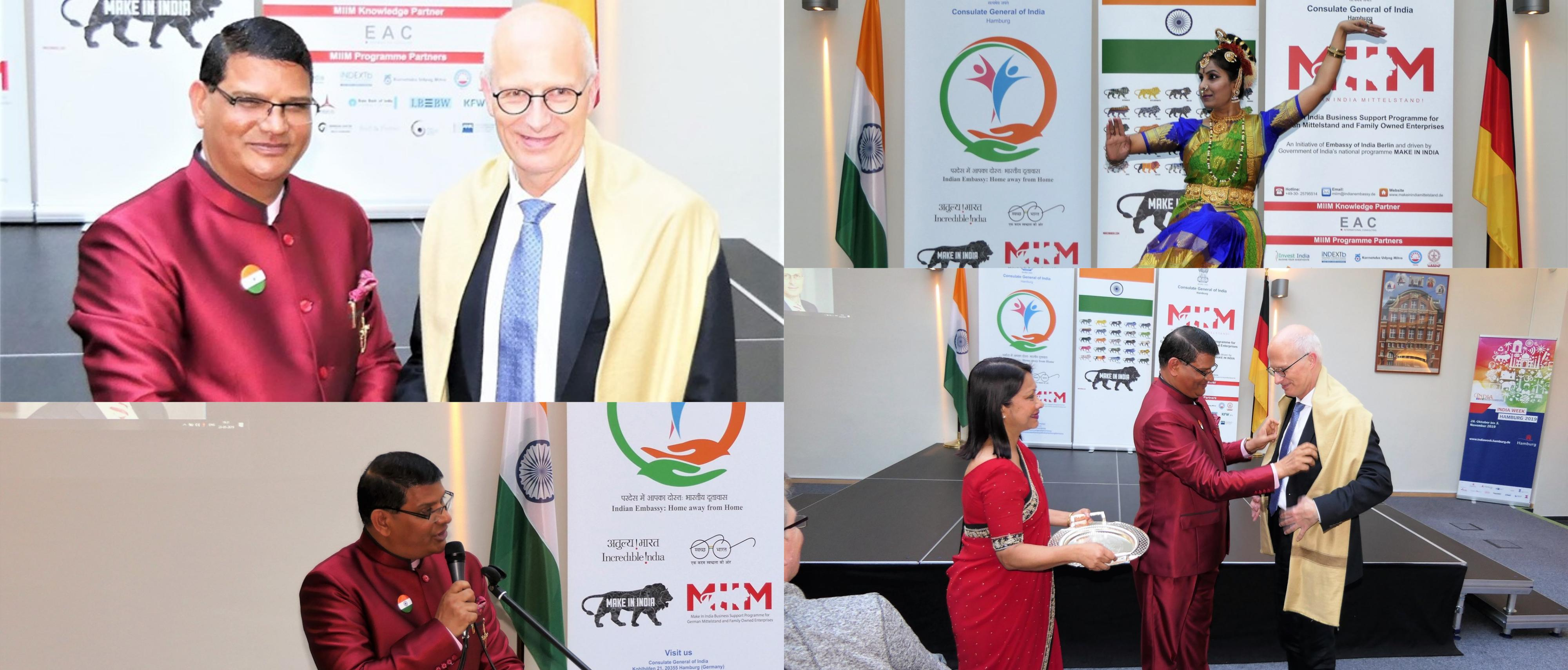 Visit of First Mayor of Hamburg to the Consulate General of India, Hamburg (May 23, 2019)